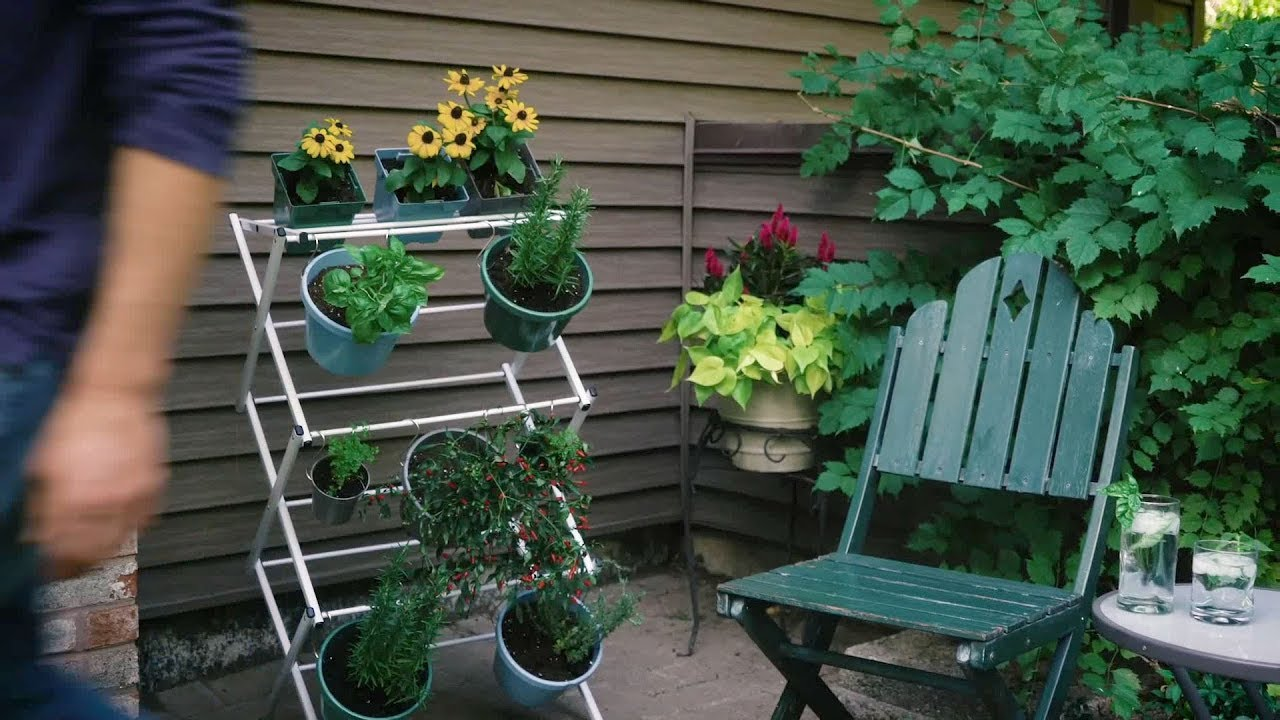 Vertical Hanging Herb Garden For Small Outdoor