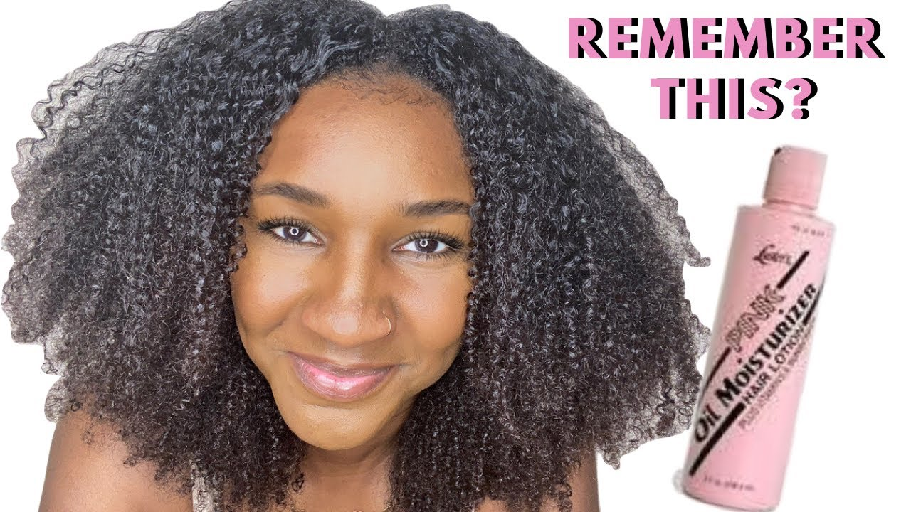 I used Pink Lotion On My Natural Hair   OLD SCHOOL IS CHANGING THE GAME