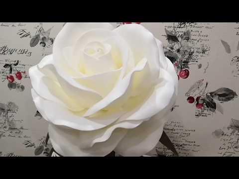 МК Роза из изолона. Декорирование стебля