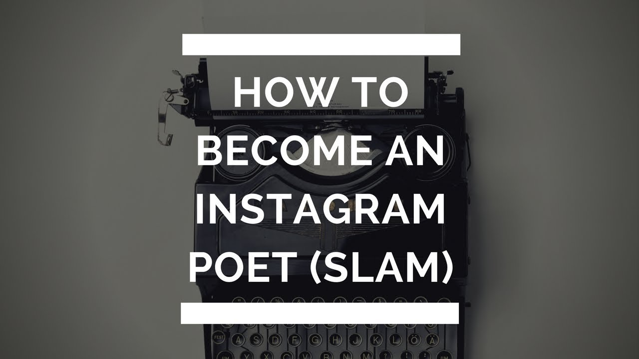 How to become a poet