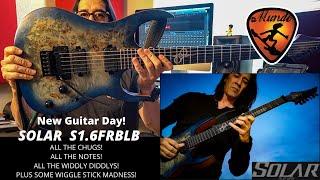 New Guitar Day | Solar S1.6FRBLB demo by Mundo Juillerat
