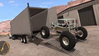 BeamNG.Drive Mods - Semi Trailer Car Hauler - Loading Off-Road Vehicles