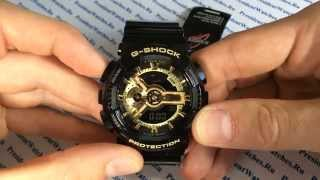 Как настроить Casio G-SHOCK GA-110GB-1AER - видео от PresidentWatches.Ru