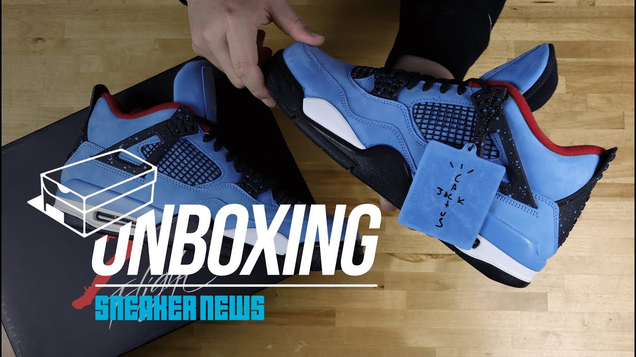 6e116a444fb Unboxing The Travis Scott Air Jordan 4 Cactus Jack - YouTube
