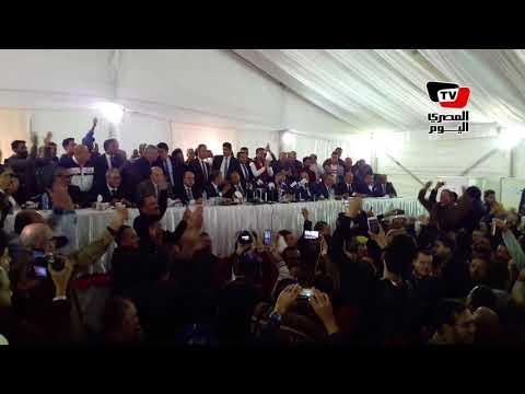 لحظة إعلان فوز مرتضى منصور برئاسة نادي الزمالك