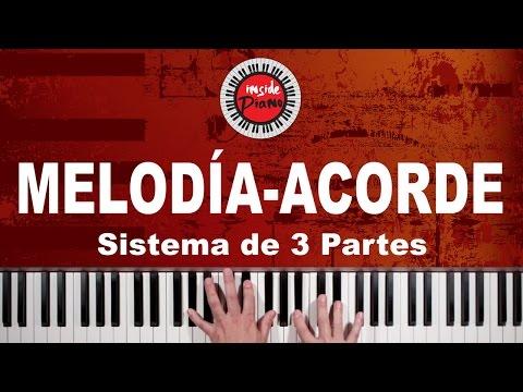 Como Tocar Melodía y Acordes en el Piano - Sistema de 3 Partes