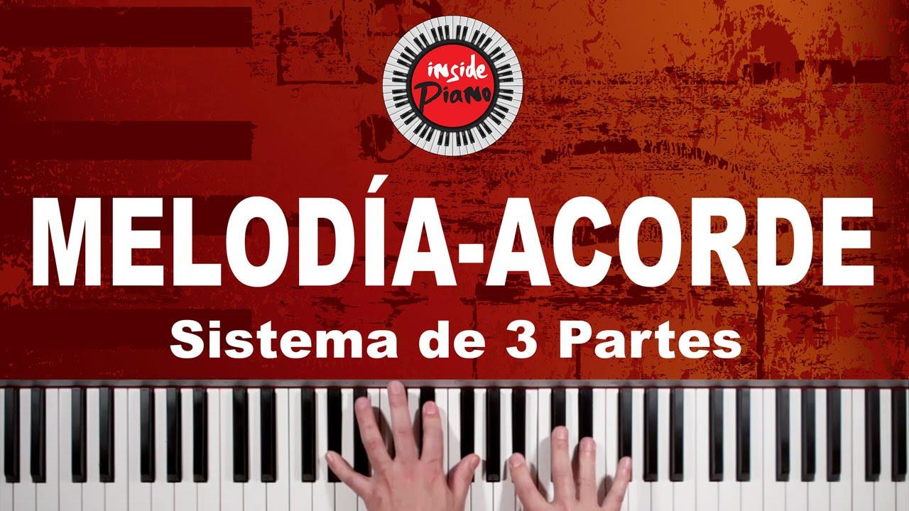 Como Tocar Melodía y Acordes en el Piano - Sistema de 3 Partes - YouTube