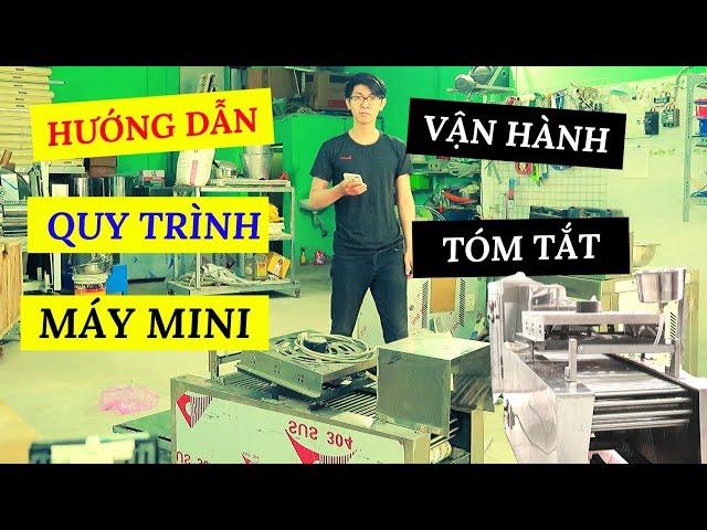 HƯỚNG DẪN Vận Hành Máy Làm Phở Mini 9IN1 | Fresh Rice Noodle Machine Tutorial | Trùm Phở