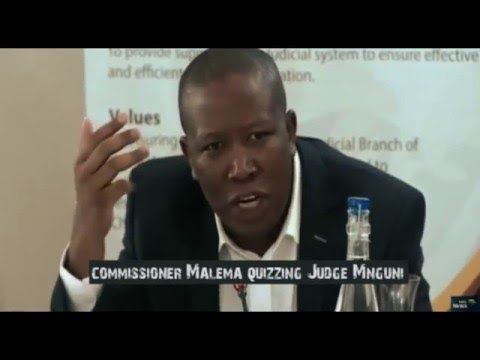 Commissioner Malema quizzing Judge Mnguni at The Judicial Service Commission judges Interviews
