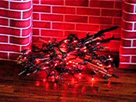 fake holiday fireplace