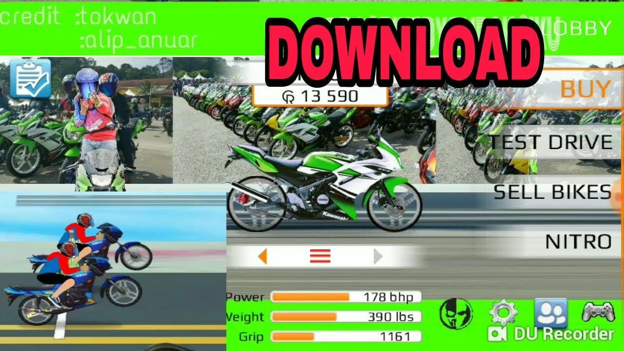 Cara Download Game Drag Bike Malaysia 201m V11 Youtube