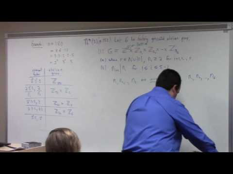 Abstract Algebra II: fundamental theorem of finitely generated Abelian groups example, 4-5-17