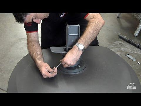 Extra Large Wheeled Resin Base Installation