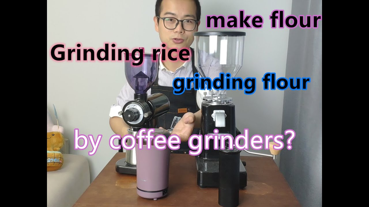 How to make rice flour by coffee grinder