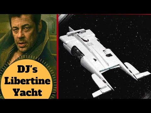 DJ's Stolen Ship - The Libertine Space Yacht - Star Wars Last Jedi Ships & Vehicles Explained
