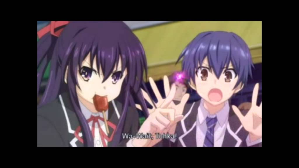 Download wallpapers Tohka Yatogami, Shido Itsuka, artwork ... |Shido Itsuka And Tohka