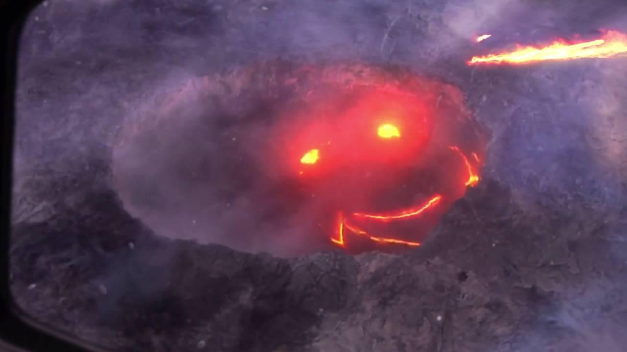 Kilauea Smiling Volcano  A Proper Smile