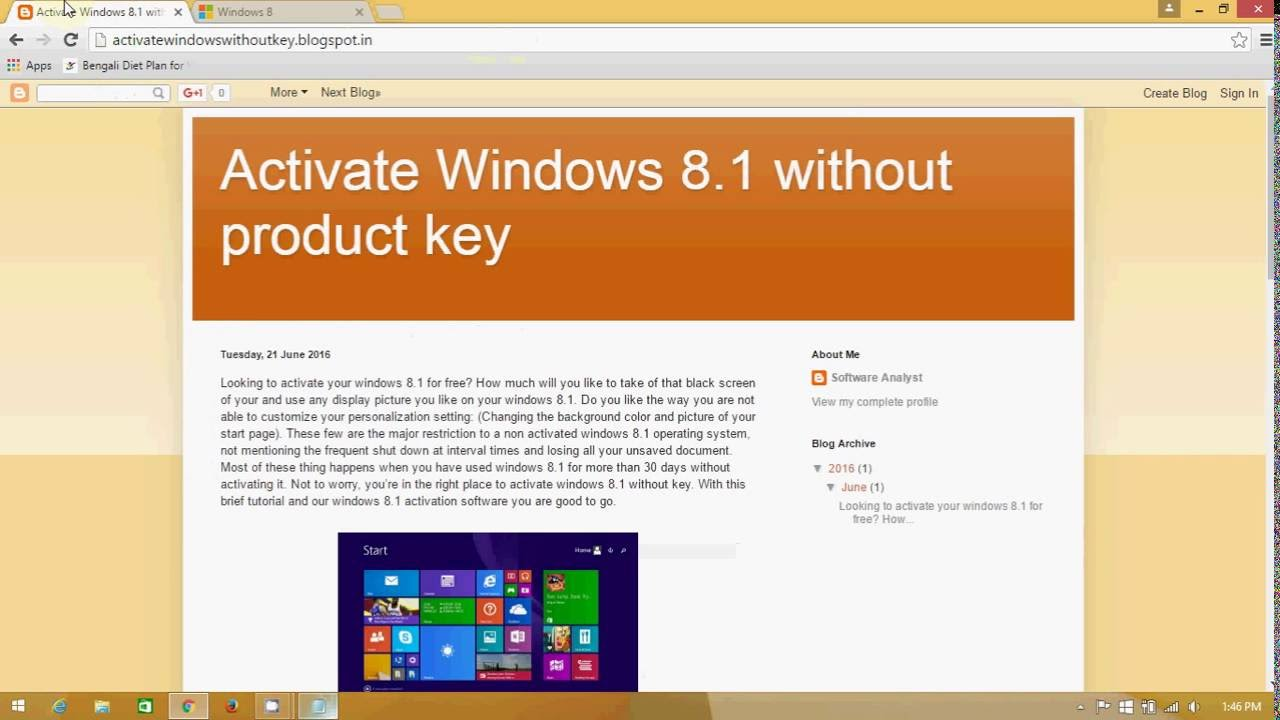 product key to activate windows 8