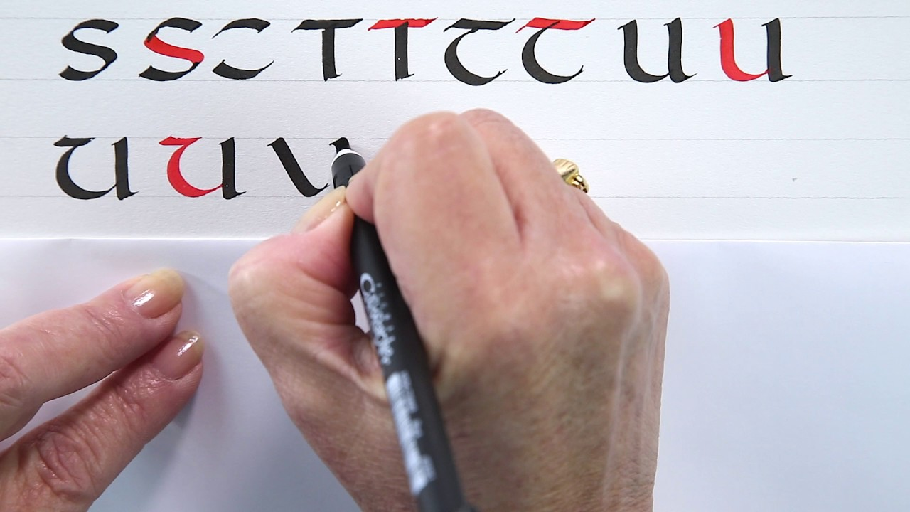 A beginners guide to uncial calligraphy q z with janet takahashi