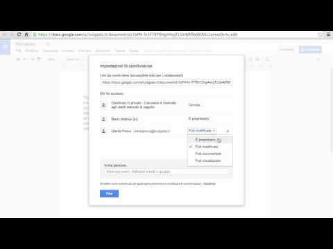 Google Drive - Condividere file e cartelle
