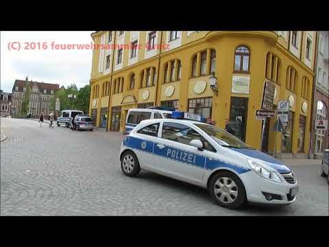 Polizei Greiz, Gera, Erfurt, Jena, Chemnitz, Dresden, Berlin Jahr 2016