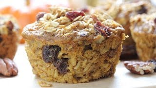 Baked Pumpkin Spice Oatmeal Muffin Cups | Easy Grab-N-Go Breakfast