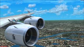Flight Simulator X Airbus A380 Landing in Paris Orly