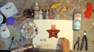 Santa Claus Personalized Ornament Tutorial