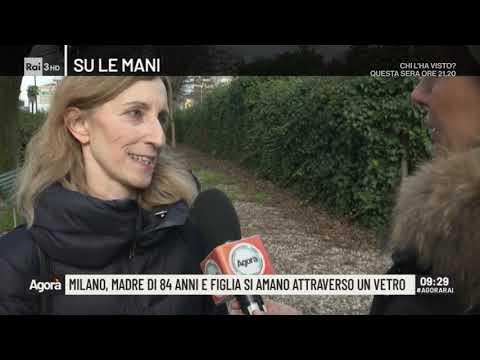 Milano, madre (84 anni) e figlia si amano attraverso un vetro - Agorà 04/03/2020