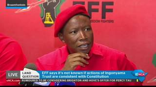 Malema on land expropriation