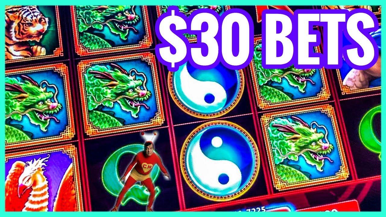 MAX BETS/ $30 BETS/ CHINA SHORES SLOT MACHINE/ LIMITE ALTO