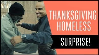 Thanksgiving Surprise for Homeless Man