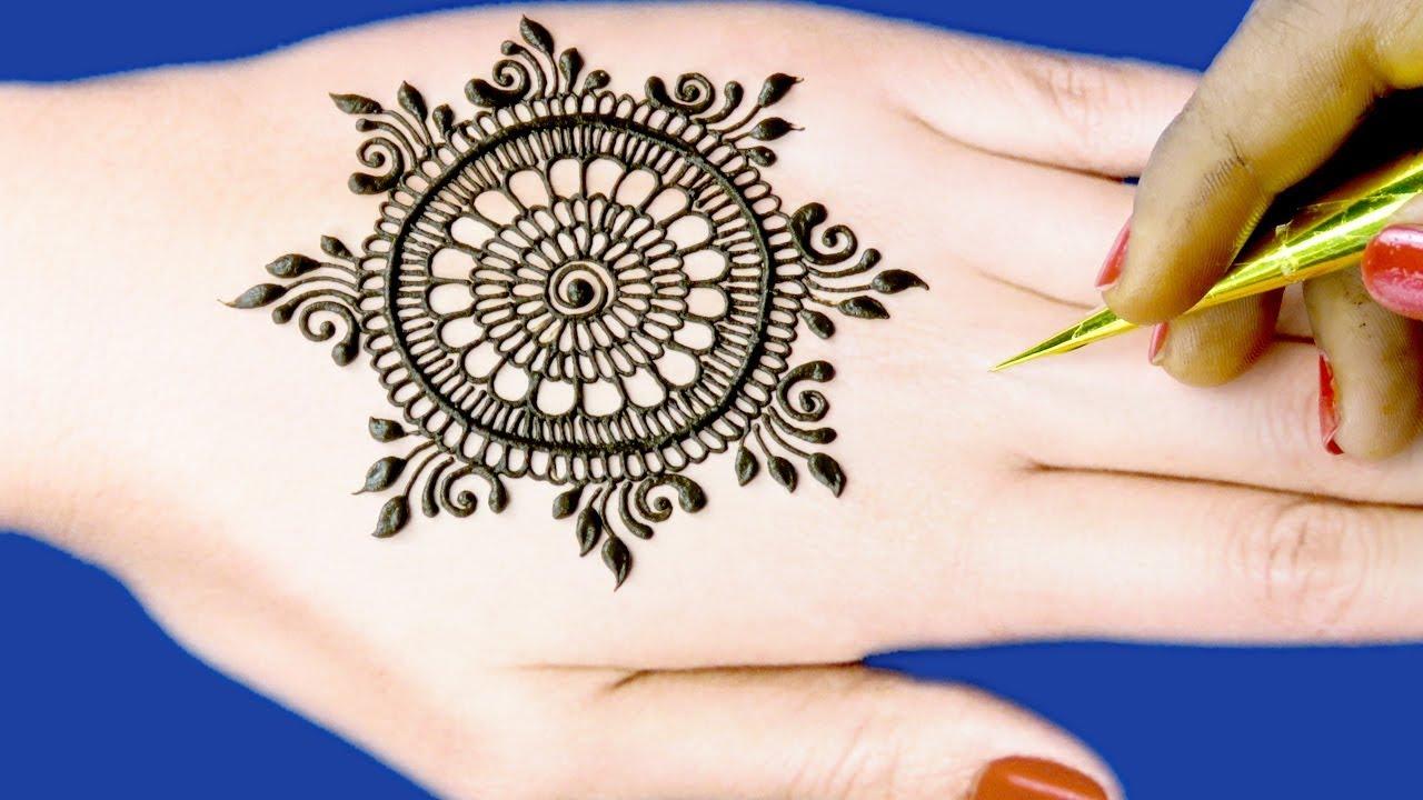 Mehndi Design For Hands New Gol Tikki Floral Mehndi Design By