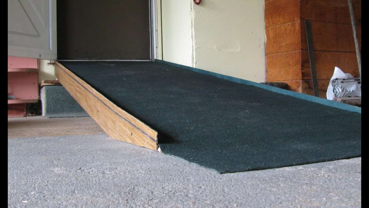 How to build a household wheelchair ramp