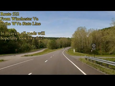 Route 522 Virginia Map.Us Route 522 From Winchester Va To The Wv State Line Alternate