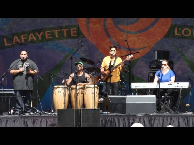 Pedrito Martinez Group at Festival International 2012, Lafayette, Louisiana USA