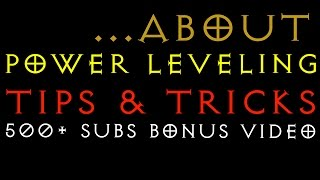 Power Leveling - Tips & Tricks - Diablo 3 RoS  LIVE - Gaming with Baromir