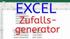 Excel Zufallsgenerator - Zufallszahl und Zufallsbereich erzeugen [normalverteilt, Verteilung]