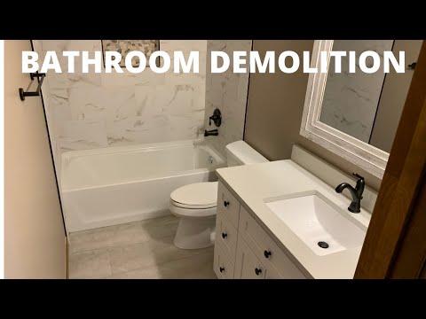 How to Do Bathroom Demolition | Home Renovation Tips