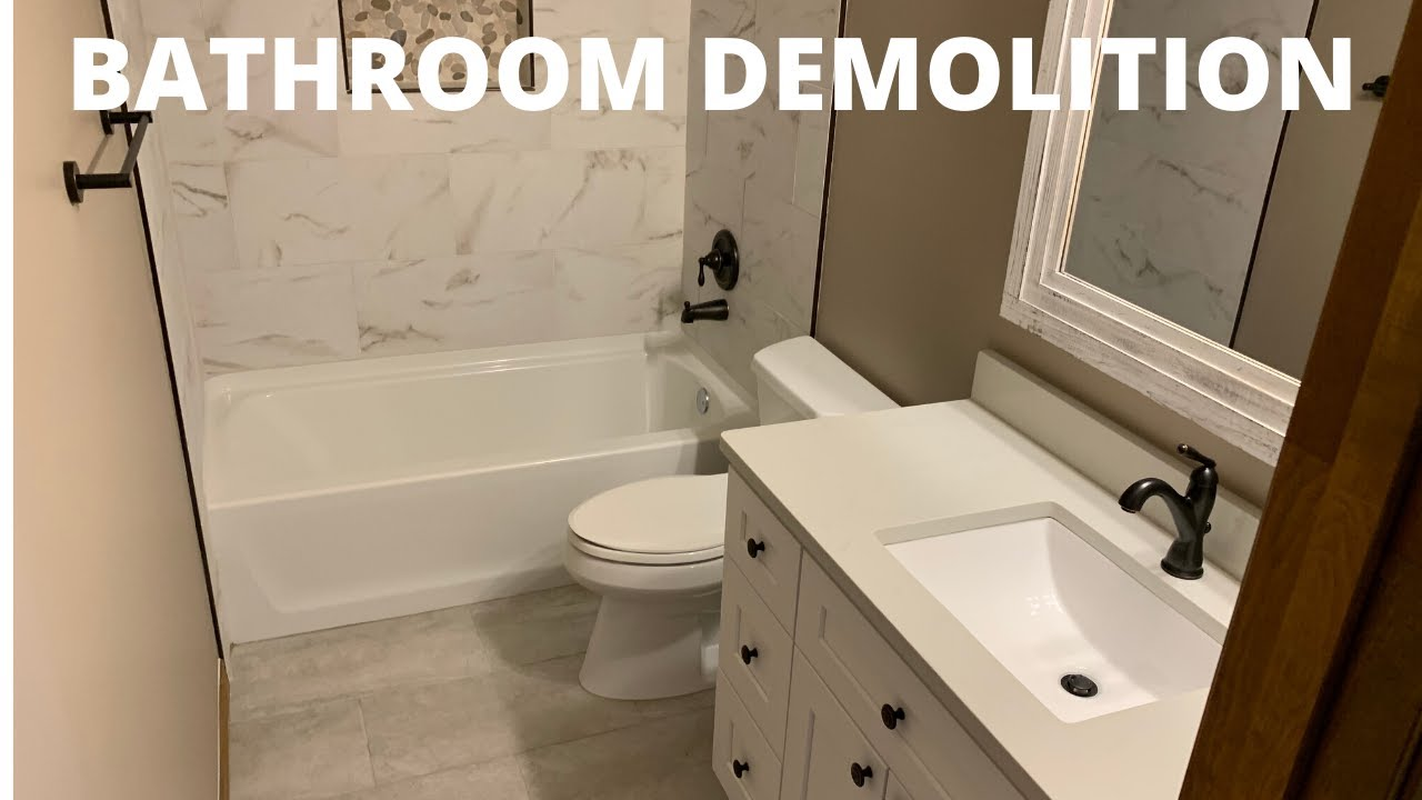 How to Do Bathroom Demolition | Home Renovation Tips - YouTube