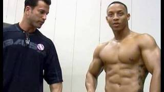 Bodybuilder - model Sagi Kalev and Tim Thomas