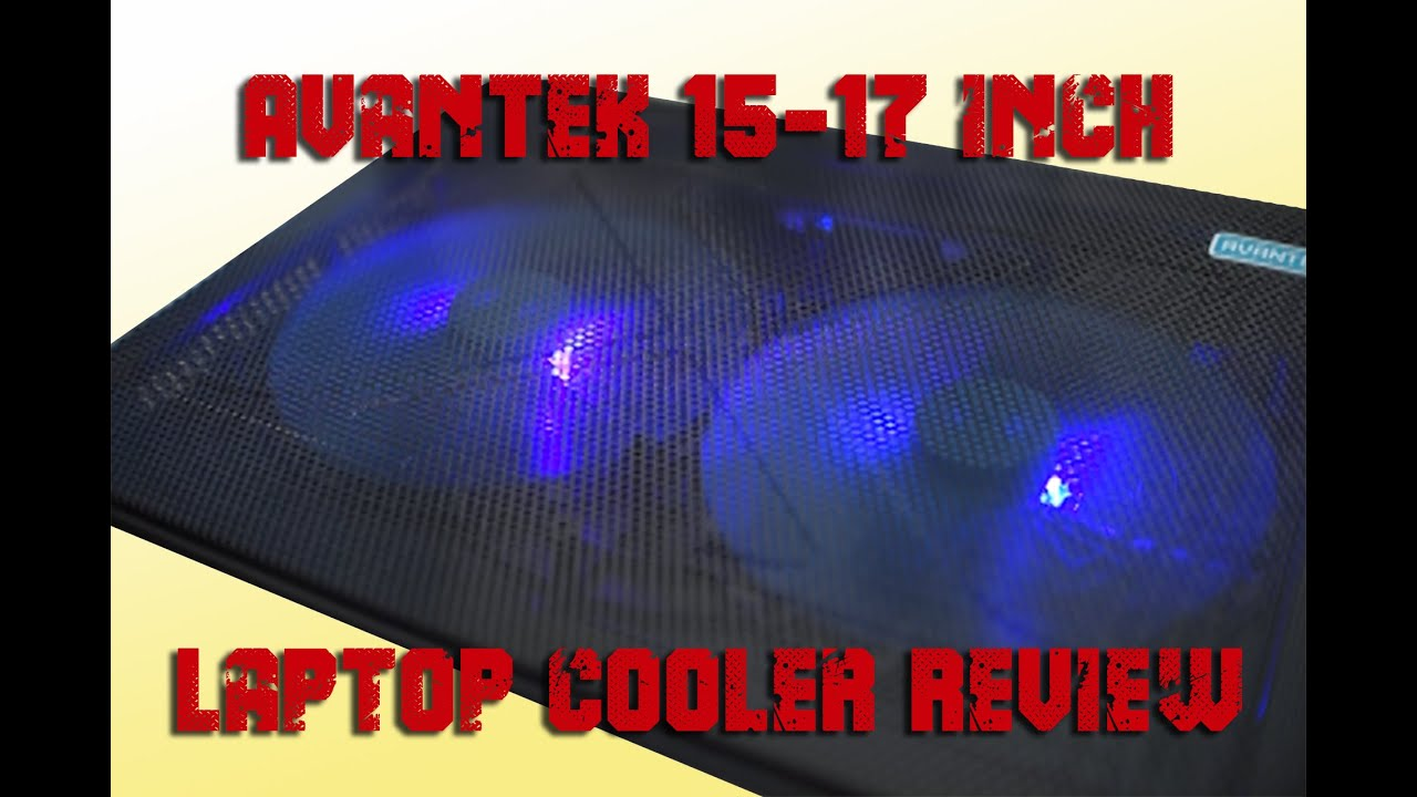 AVANTEK 15 17 Laptop Notebook Cooling Pad Chill Mat with Dual 160mm Blue LED Fans