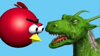 CUT THE ROPE starring ANGRY BIRDS ♫ 3D animated  game mashup ☺ FunVideoTV - Style ;-))