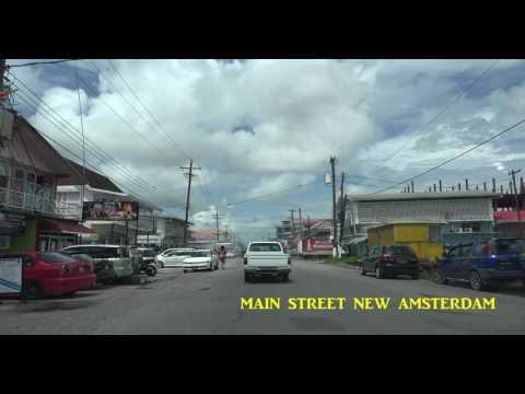 MAIN STREET NEW AMSTERDAM TOWN -New Amsterdam to Rosignol.