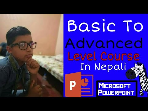 How To Use Microsoft Presentation For Begginers ! Microsoft Presentation Tutorial In Nepali