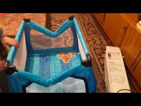 Как собрать кровать манеж babyton видео