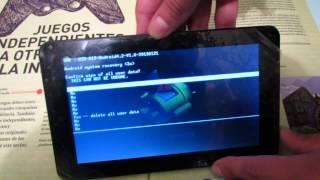 Tutorial Hard- Reset Tablet Android. Resetear/Formatear tablet