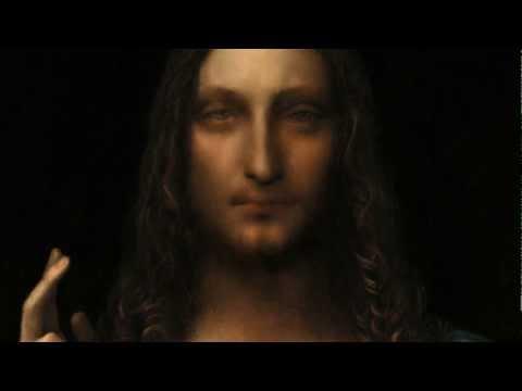 """Salvator Mundi"" a newly rediscovered painting by Leonardo Da Vinci."