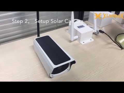 XloongX 4G wifi wireless solar camera setup installation guide
