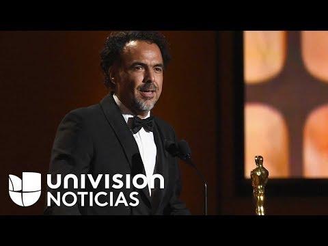 Alejandro González Iñárritu recibe un Oscar honorífico por su película 'Carne y arena'